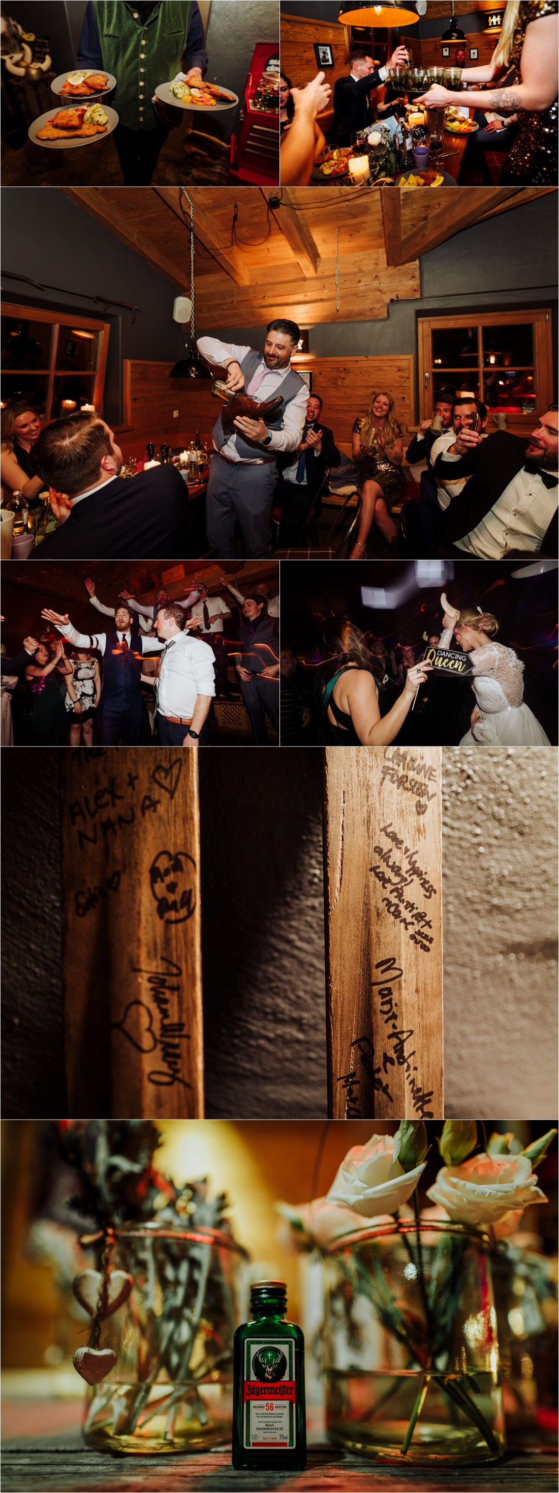 Ganslern Alm wedding reception by Wild Connections Photography