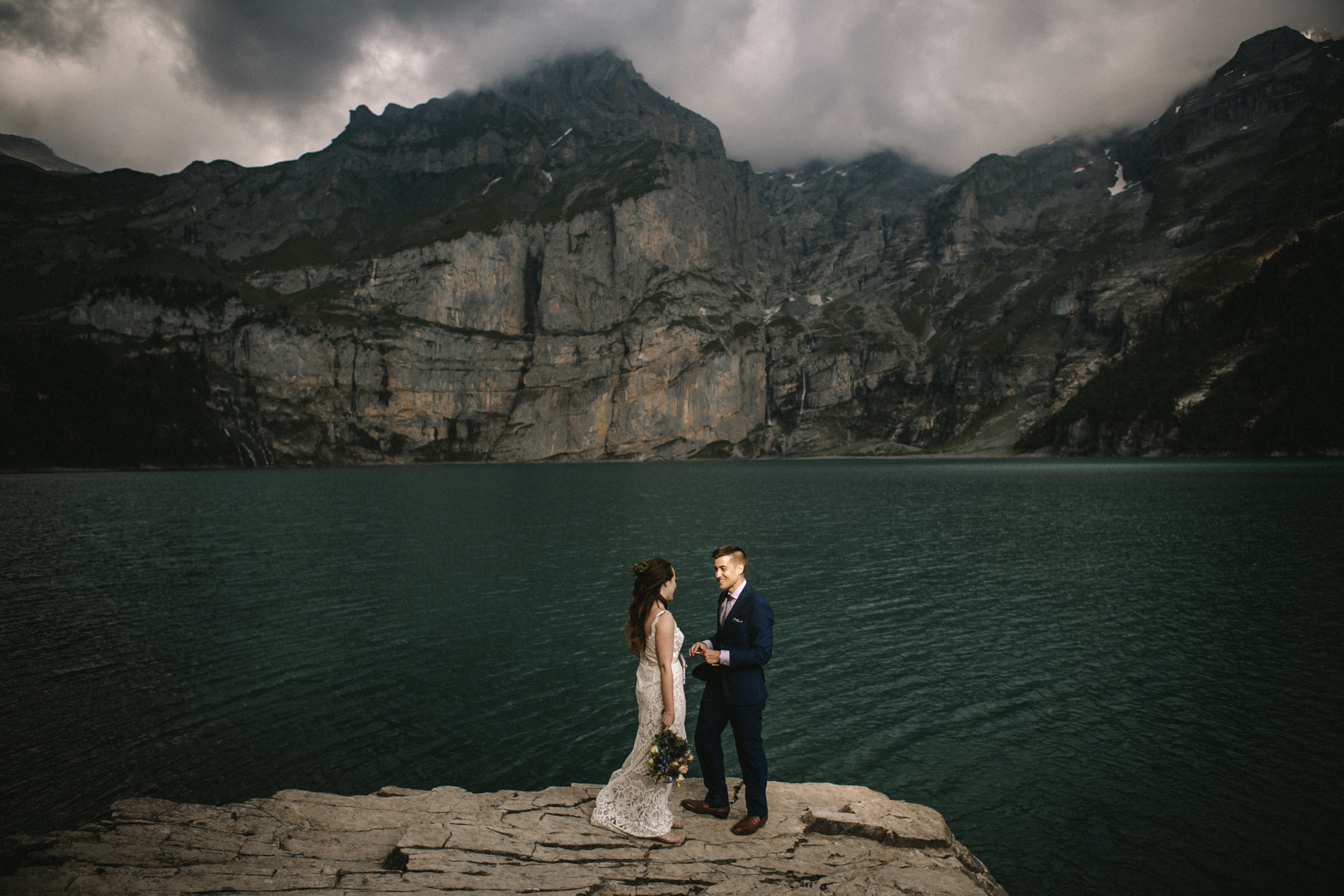 A Lakeside Elopement in the Swiss Alps by Veronika Bendik