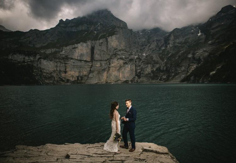 A Lakeside Elopement in the Swiss Alps by Veronika Bendik
