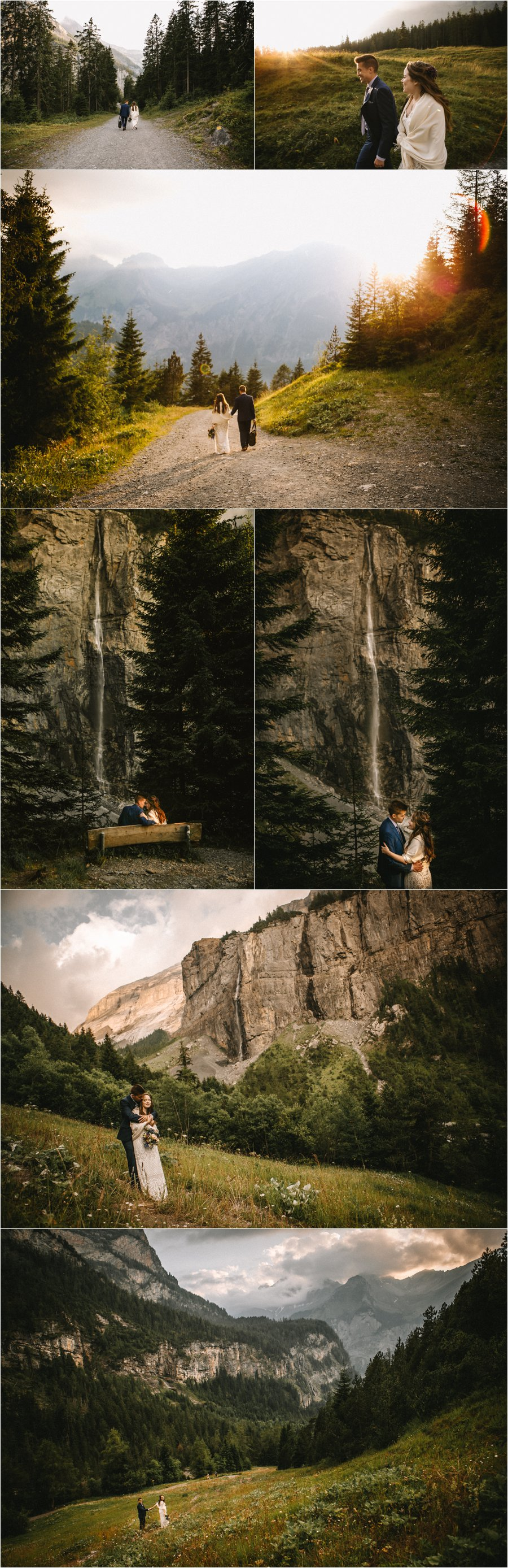 An elopement in the Swiss Alps by Bendik Photography