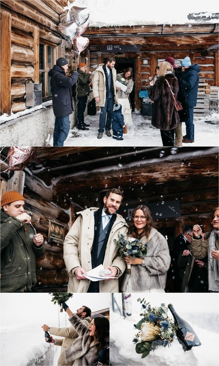 The guests congratulate the bride and groom after their civil ceremony on the Zugspitze by Aneta Lehotska