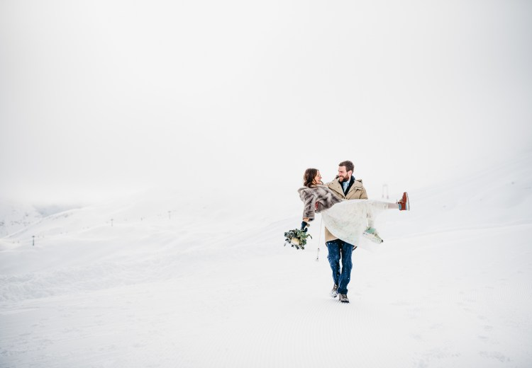 Winter wedding on Germany's Highest Mountain by Aneta Lehotska
