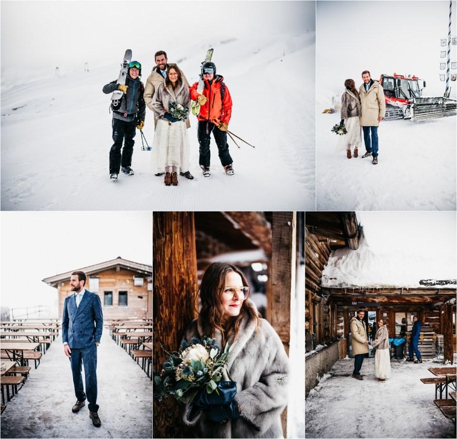 A mountain winter wedding on Germany's highest mountain by Aneta Lehotska