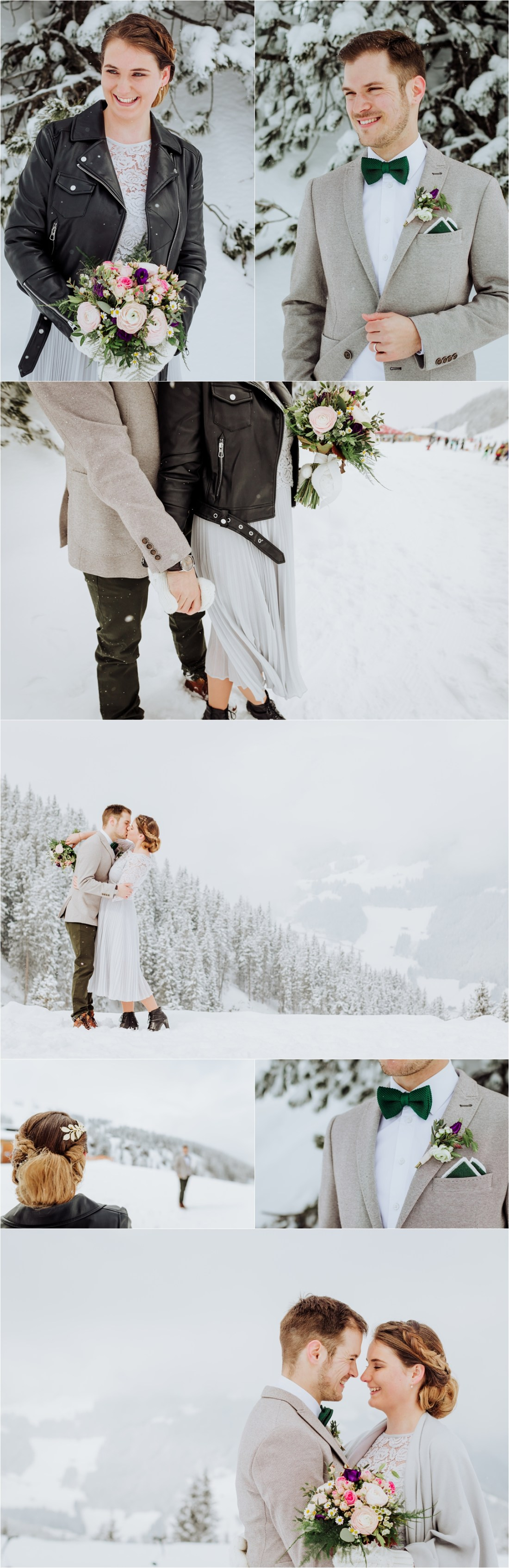 An intimate winter elopement in the Austria Alps in Mayrhofen by Wild Connections Photography