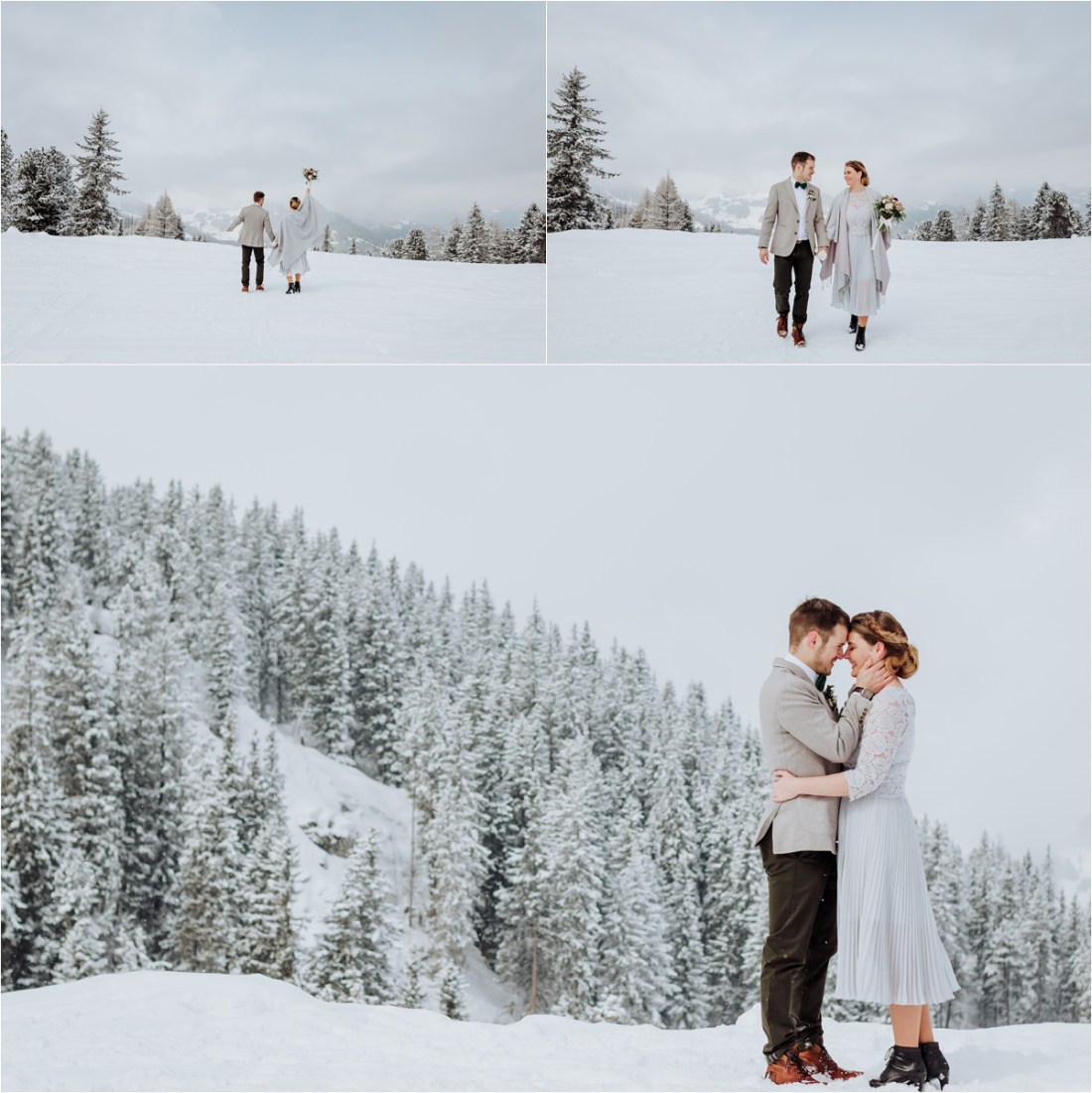 Nadja & Frederik visit the Austrian Alps in winter to elope in Mayrhofen by Wild Connections Photography