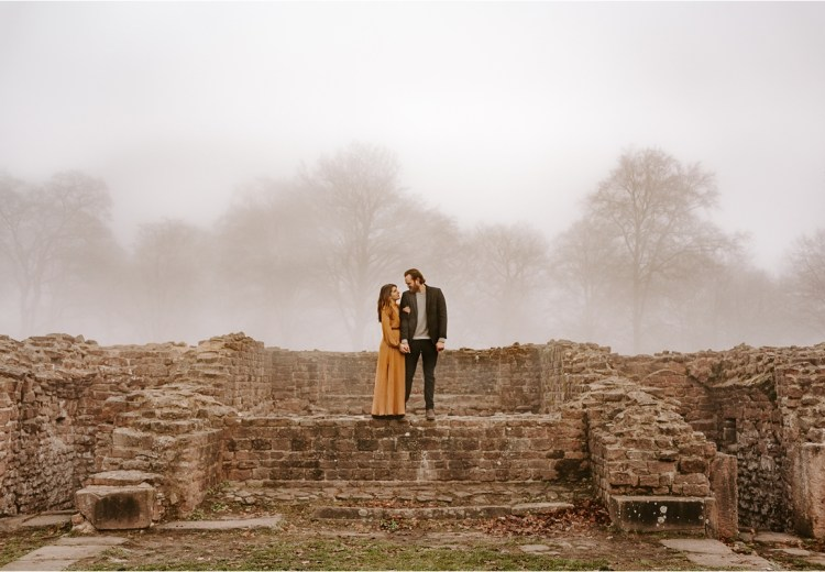 Engagement shoot amongst the ruins in Heidelberg Germany by Courtney Lynn Photography