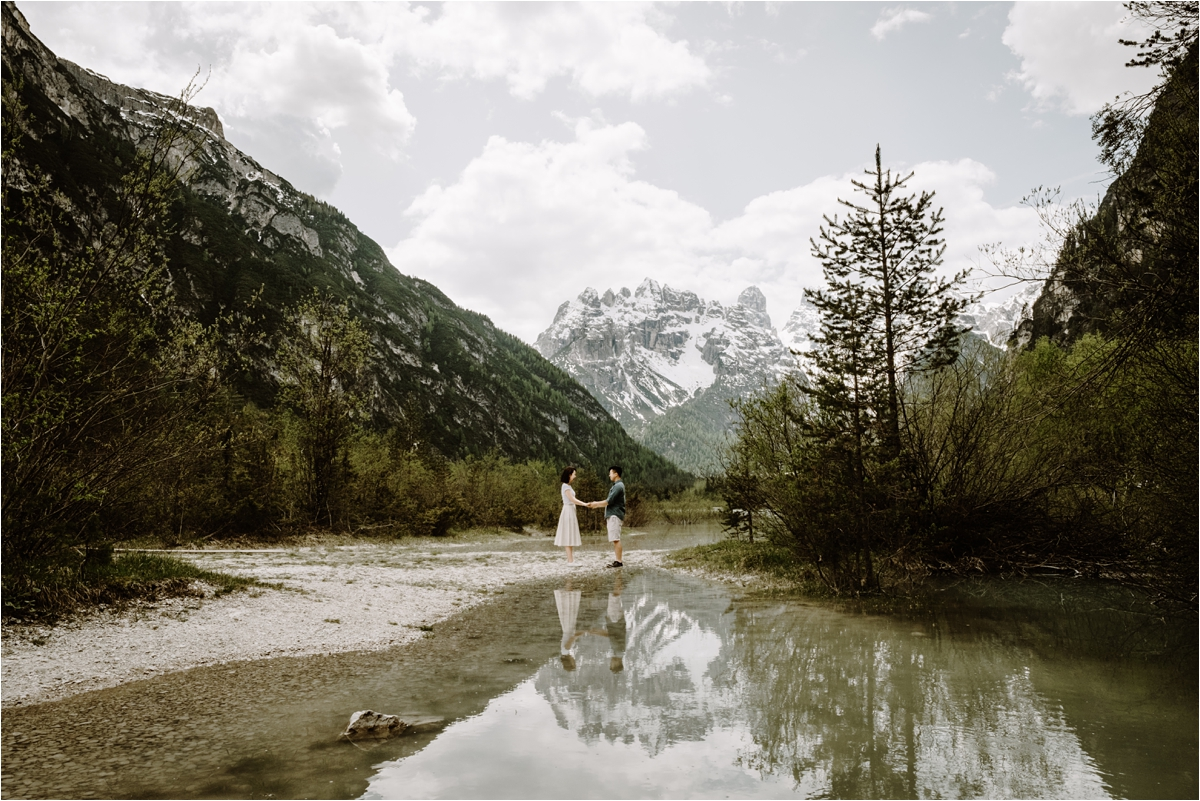 Italian Alps engagement shoot by Wild Connections Photography