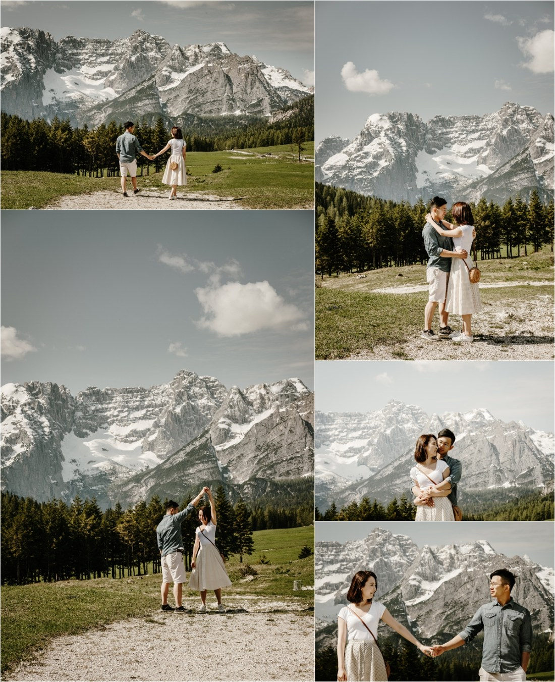 An engagement shoot exploring the Dolomites by Wild Connections Photography