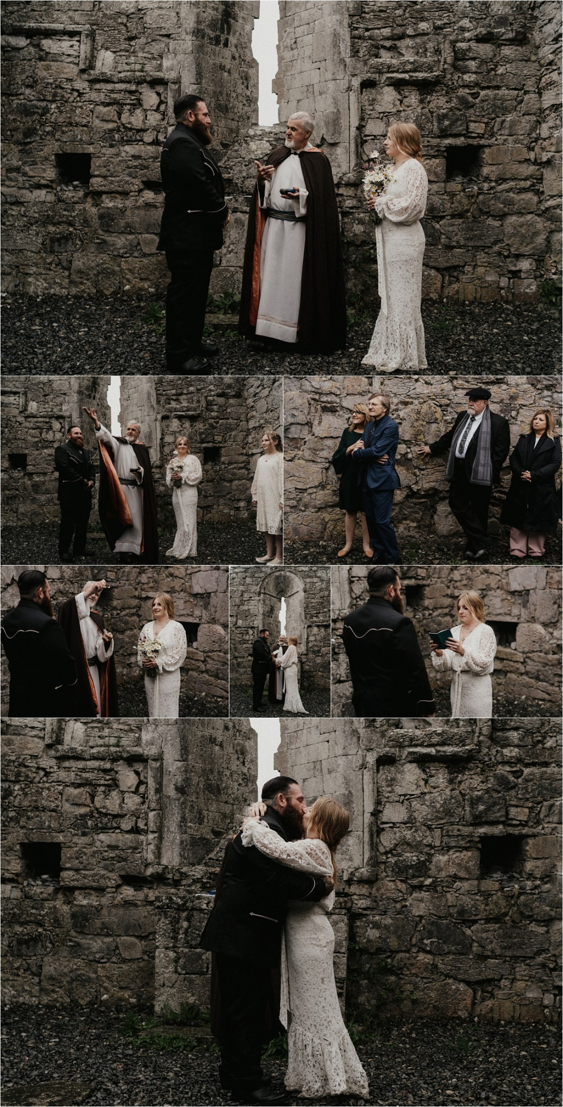 An elopement ceremony amongst the church ruins on the Aran Islands in Ireland by Emily Black Photography