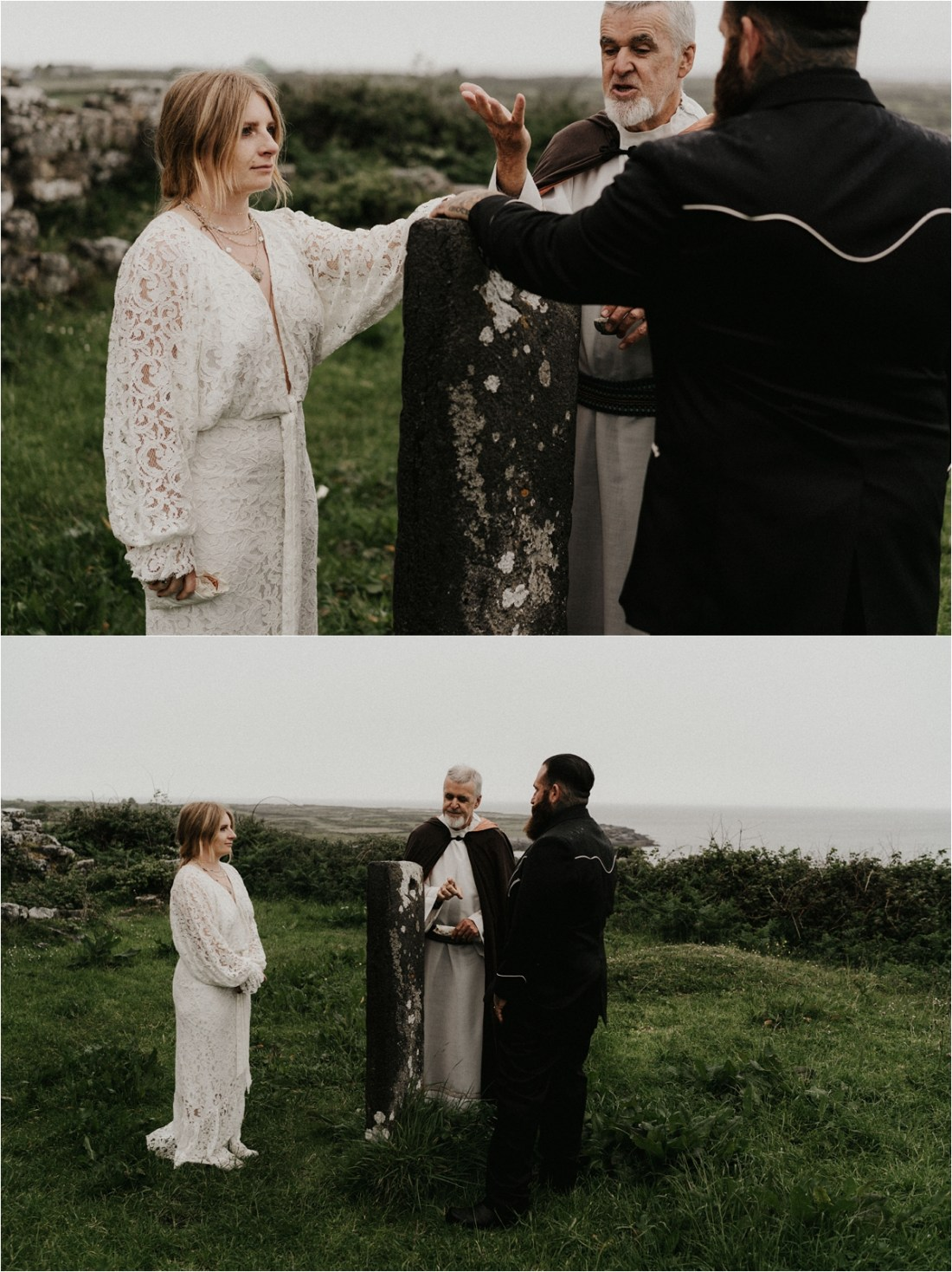 A Celtic blessing during their elopement ceremony in the Aran Islands by Emily Black Photography