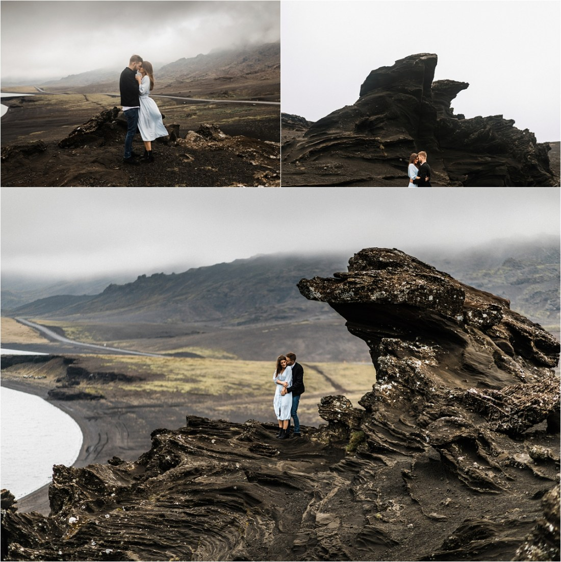 Dramatic Reykjanes Peninsula couple shoot by Bettina Vass