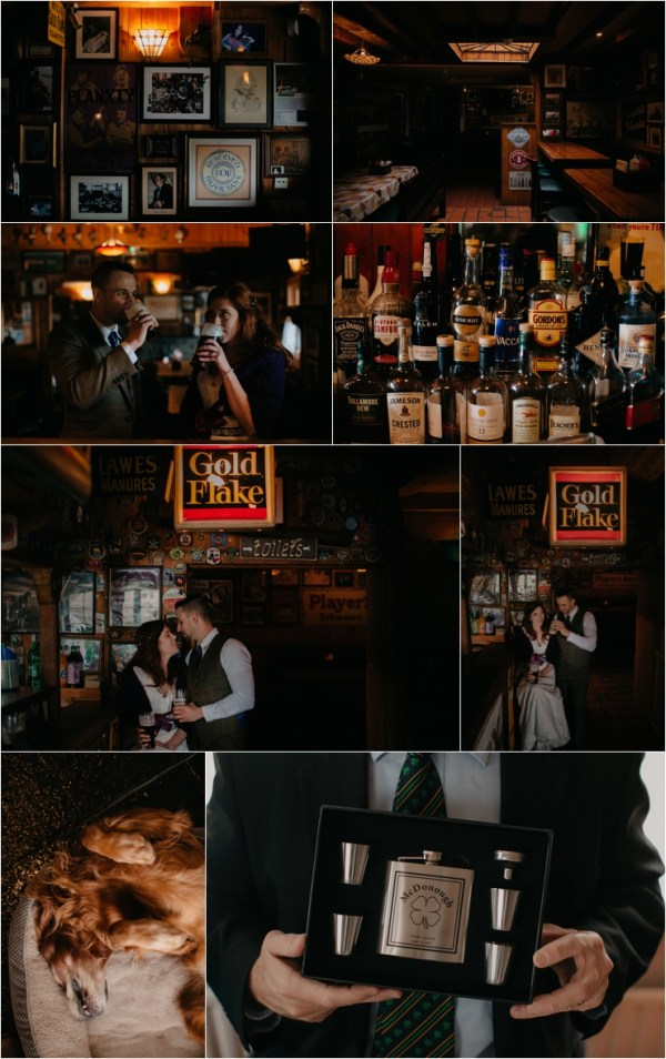 Cliff top Hand fasting of Jon and Sara, on the Cliffs of Moher, Co Clare, Ireland Captured by Photographers Seandkate Jon & Sara go to a local Irish pub to celebrate their marriage with a pint of beer