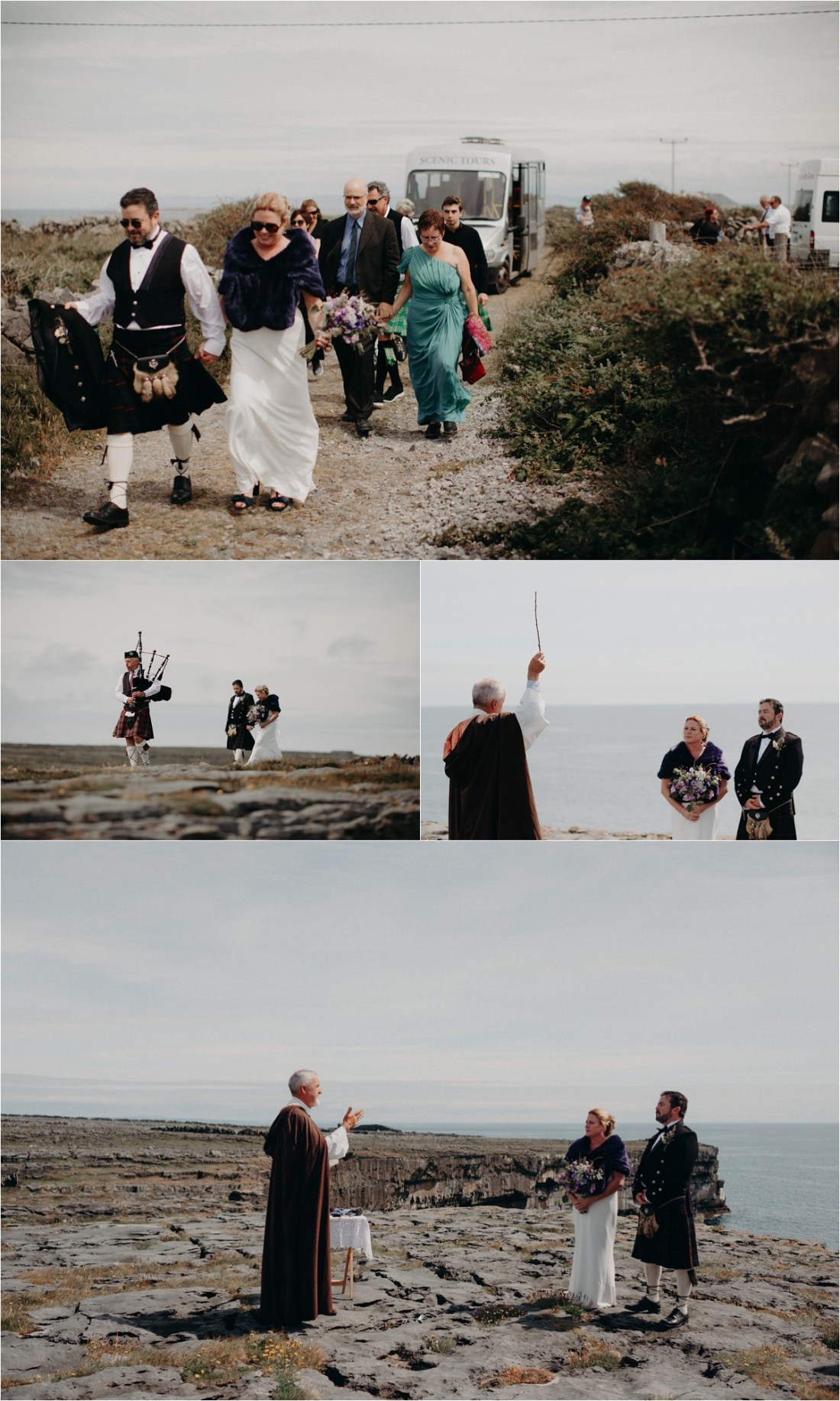 A wedding ceremony in the Aran Islands. Photos by Sean & Kate