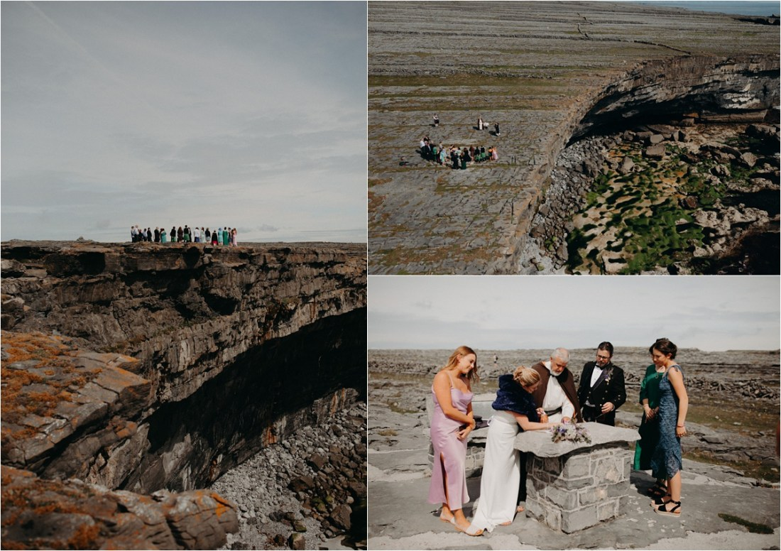Cliff ceremony in the Aran Islands. Photos by Sean & Kate