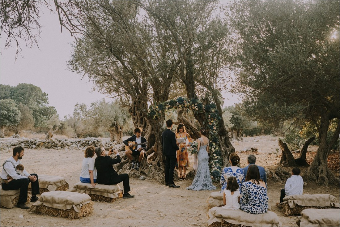 An intimate wedding ceremony in Naxos, Greece