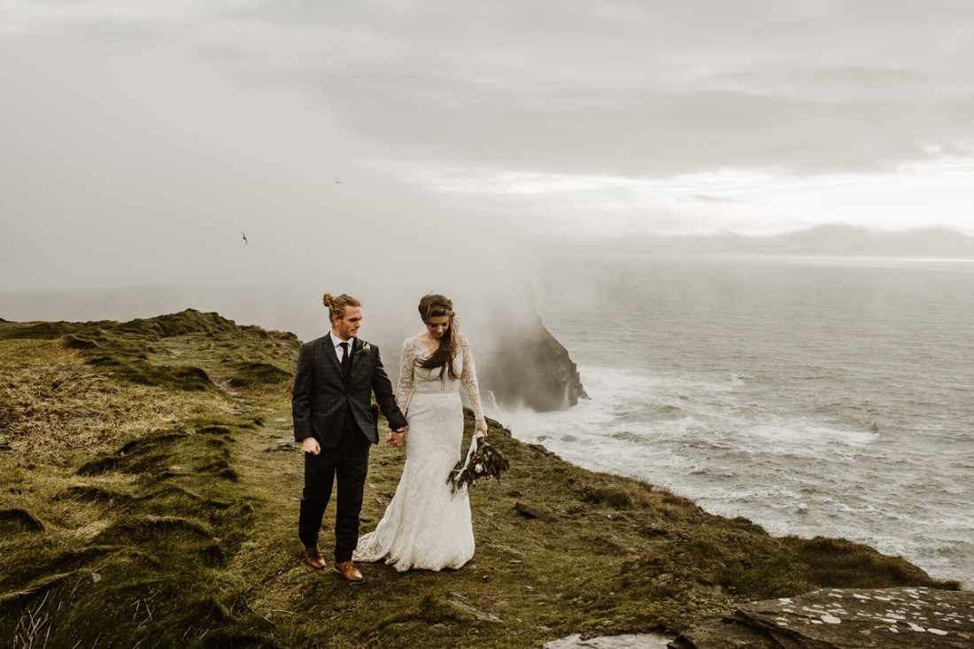 Cliffs of Moher Elopement, Stormy Elopement At The Cliffs Of Moher