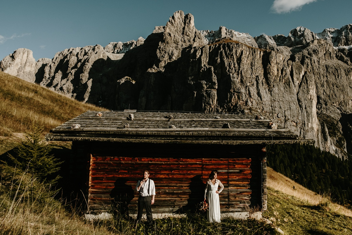 Dolomites elopement in Fall by Wild Connections Photography