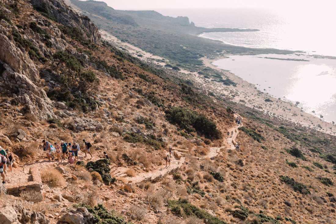 Balos hiking trail in Crete