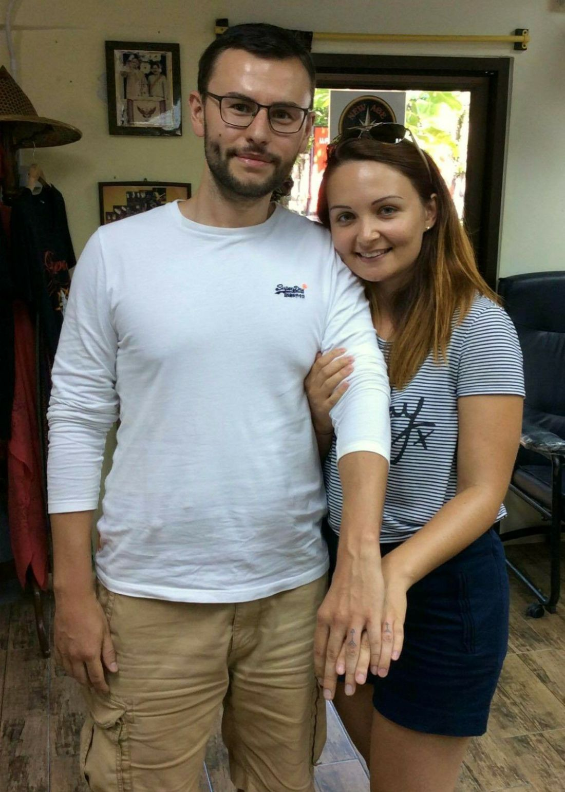 When we got our tattoo wedding rings done