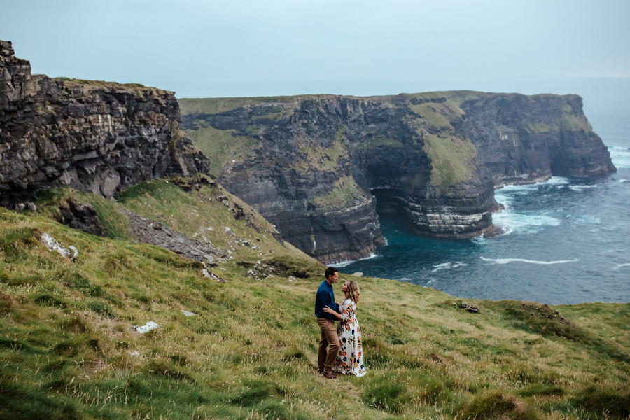 Vow Renewal on the Cliffs of Moher in Ireland
