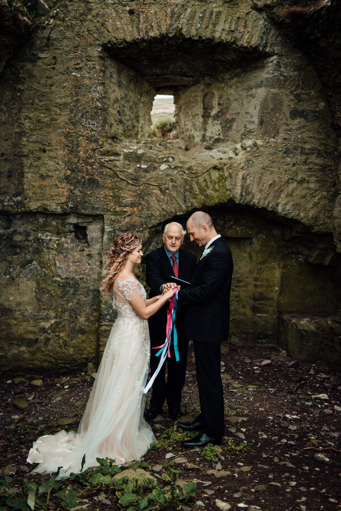 Wedding in a ruined castle