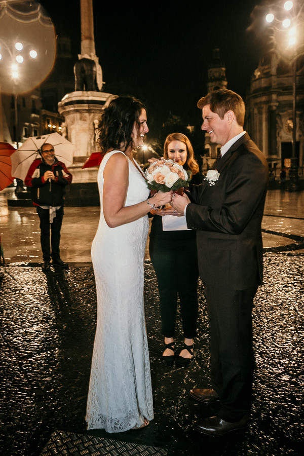 Romantic Rainy Wedding in Sicily