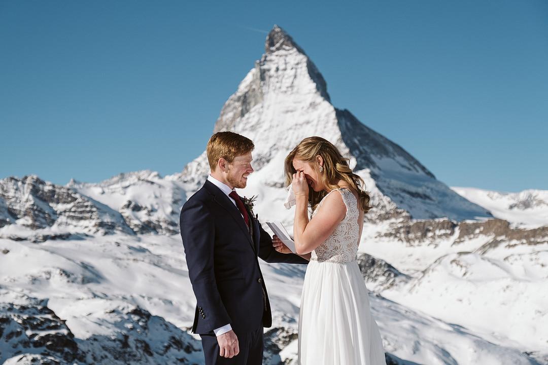 Elopement ceremony at the Matterhorn