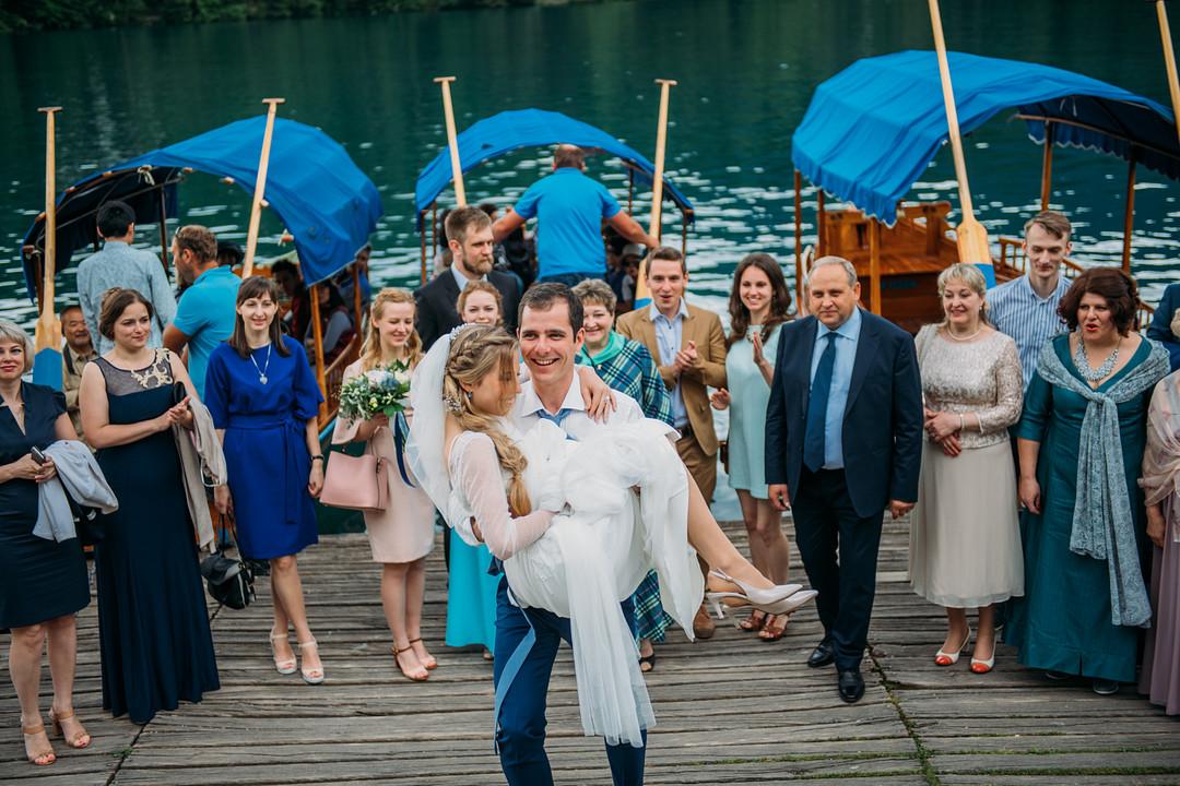 Intimate Destination Wedding on Lake Bled