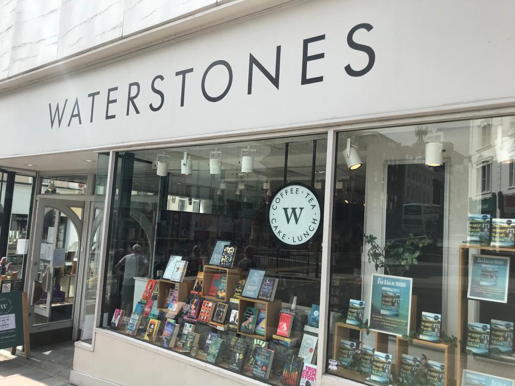Waterstones shop window