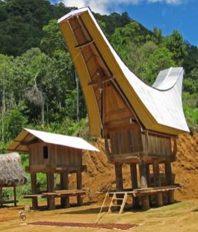 3 Sulawesi, Tana Toraja, dorp