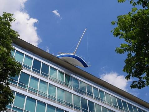 Boot op het dak hotel daniel wenen