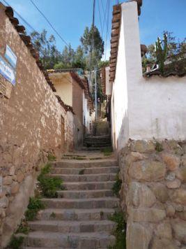 Cusco smalle stegen straatjes