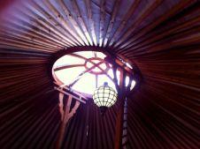 Dak van de yurt