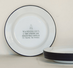 Emaille bord wanderlust