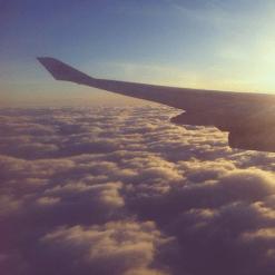 In the sky vliegen