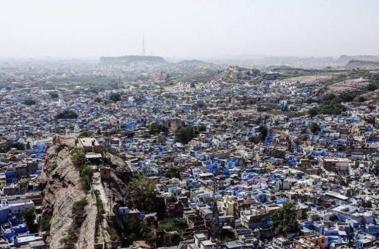 Jodphur blauwe stad backpack route india