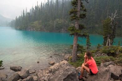 Joffre lakes Provincial Park upper joffre lake