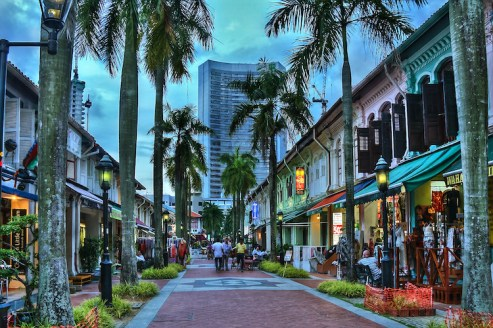 Kampong glam singapore 's avonds