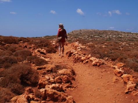 Mooiste strand van Kreta wandeling balos beach