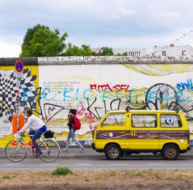 Muur berlijn east side gallery