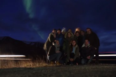 Noorderlicht in IJsland groepsfoto