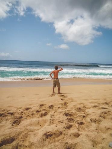 Oahu surfers kijken North Shore Hawaii