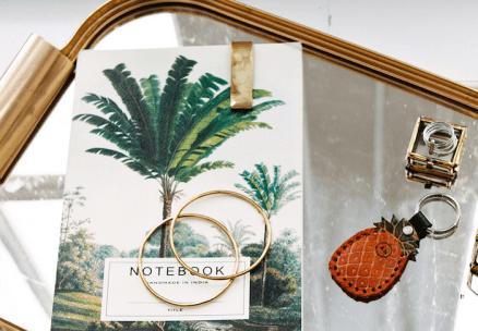 Palmbomen notitieboekje a-la