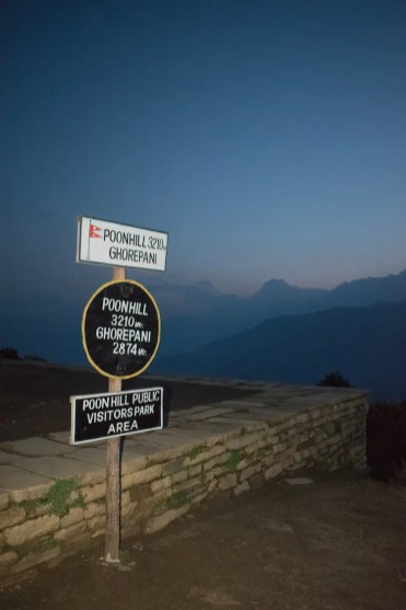 Poon hill trek zonsondergang