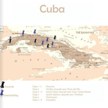 Reisboek voorbeeldblad cuba