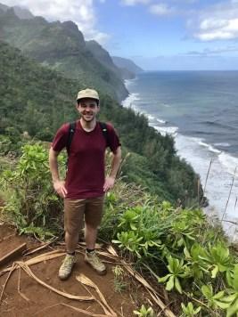 Rick op reis in Hawaii