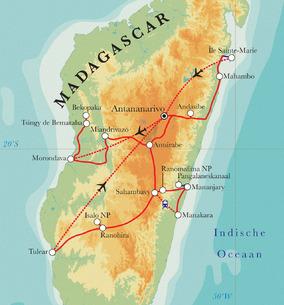 Route madagascar reizen naar madagascar