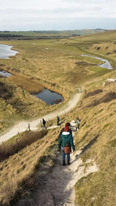 Seven Sisters in Engeland pad zuid engeland