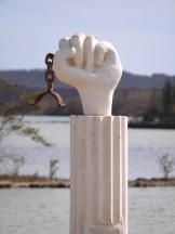 Slaven monument Curacao bij Jan Kock Landhuis