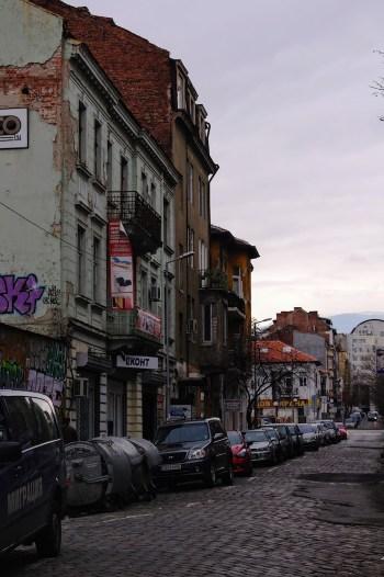 Straatbeeld Sofia citytrip bulgarije